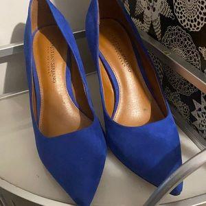 🌞🌞Royal blue suede feel heels